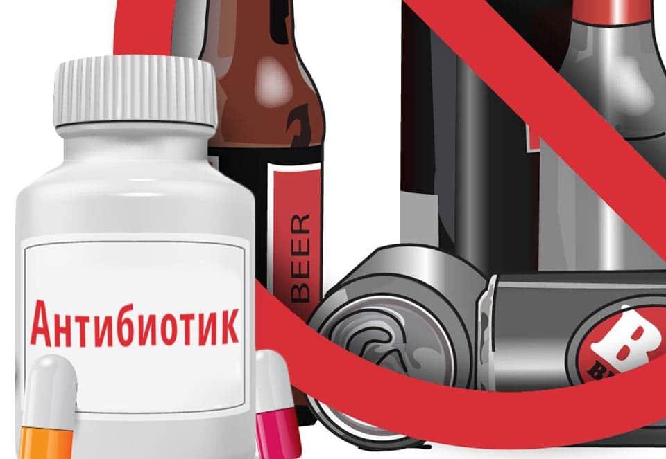 Взаимодейтвие алкоголя с антибиотиками