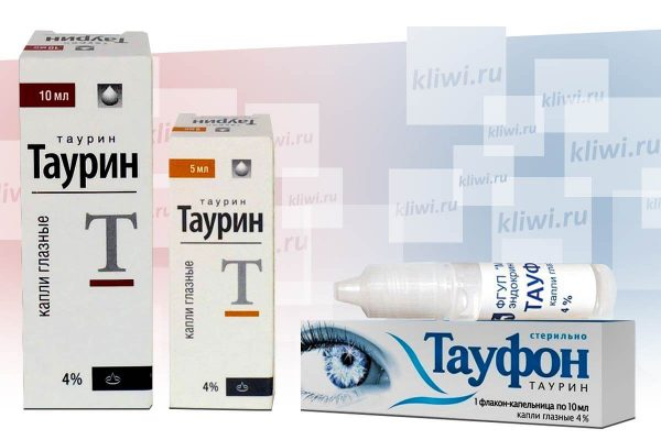 Чем отличаются глазные капли Тауфон и Таурин?