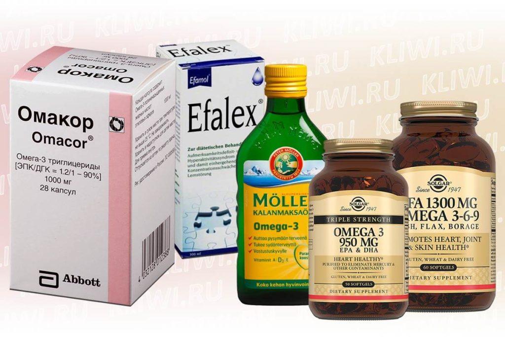 Препараты с Омега-3 и Омега-6