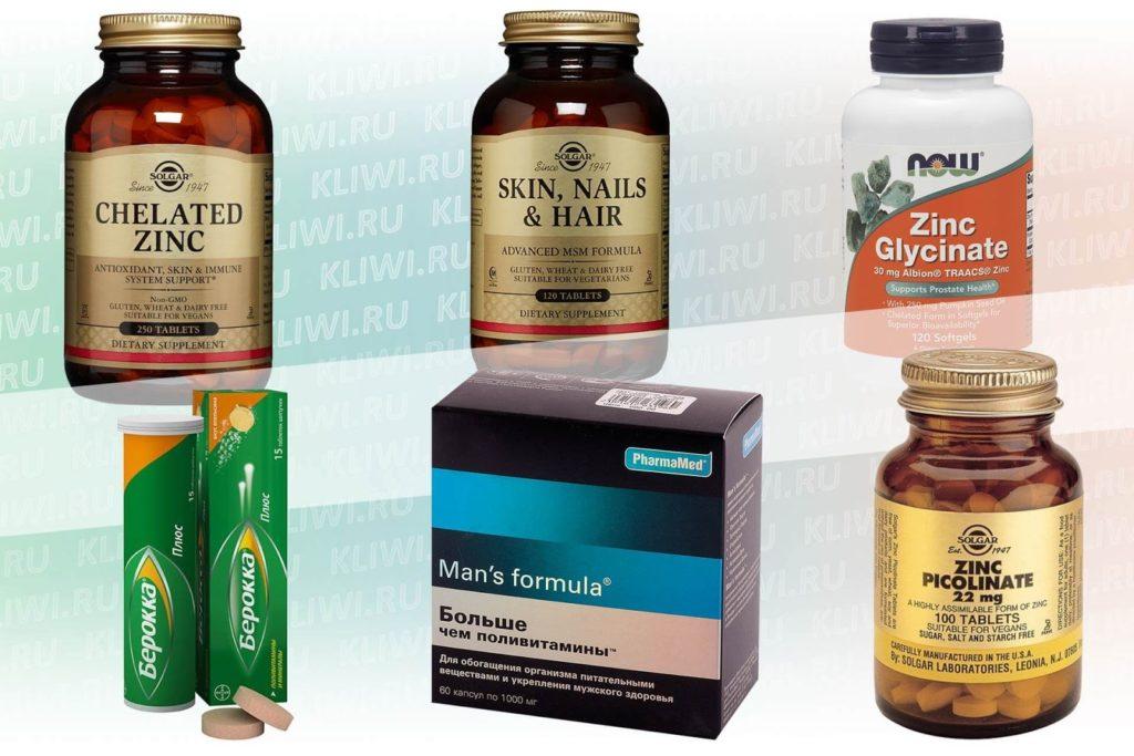 Препараты с хелатом цинка