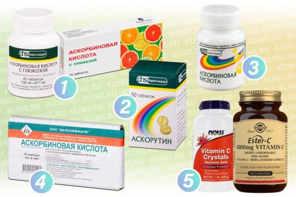 Препараты содержащие аскорбиновую кислоту