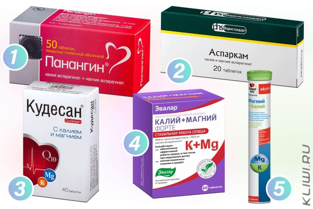 Препараты с калием и магнием