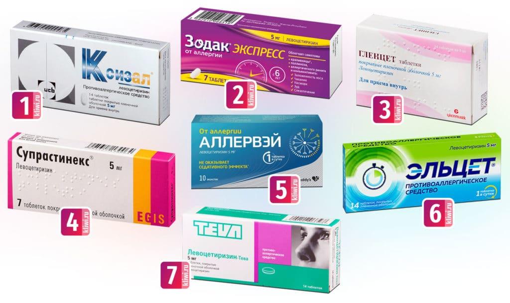 Препараты с левоцетиризином