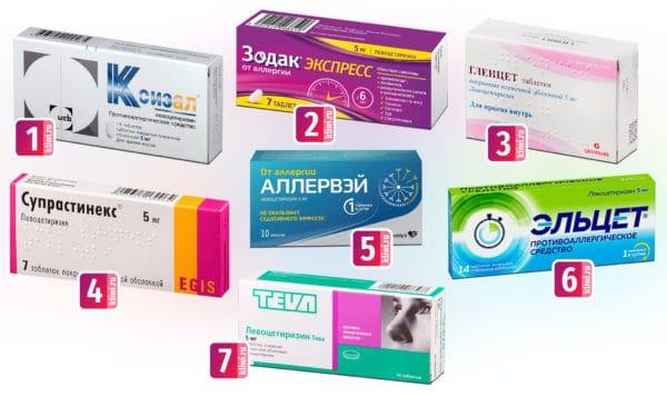 Левоцетиризин содержащие препараты от аллергии