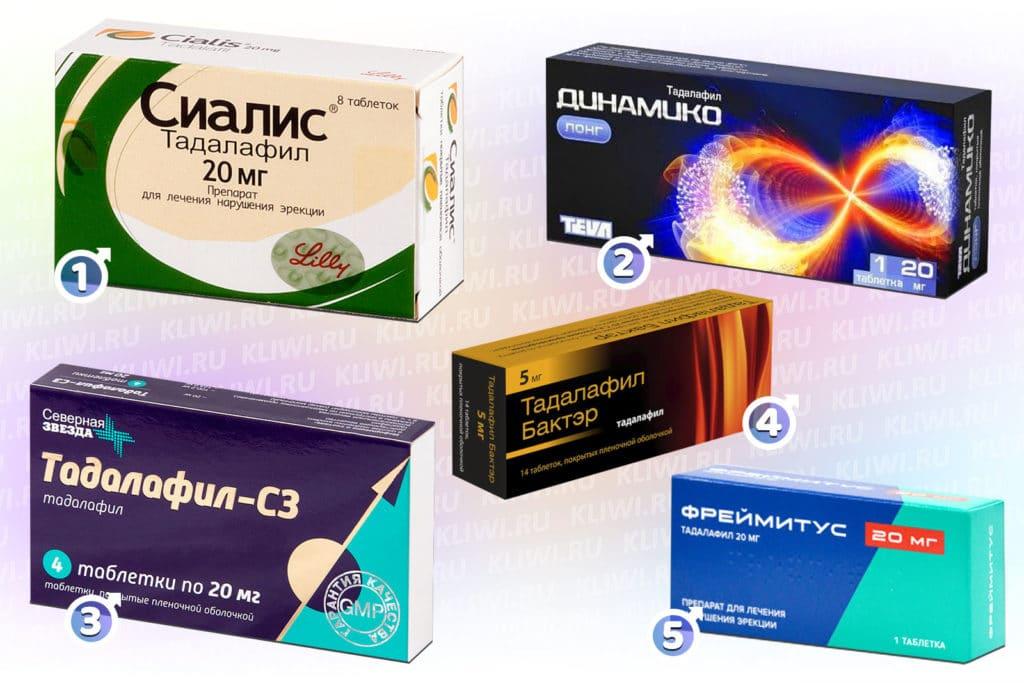 Тадалафил содержащие препараты