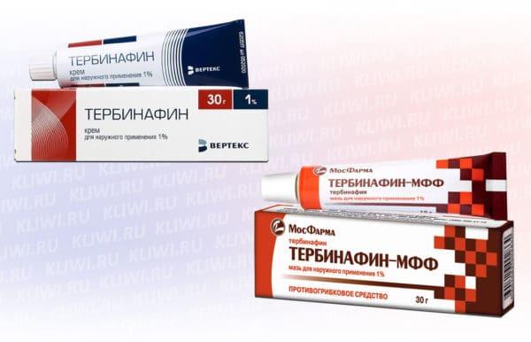 Тербинафин мазь или крем — что лучше?