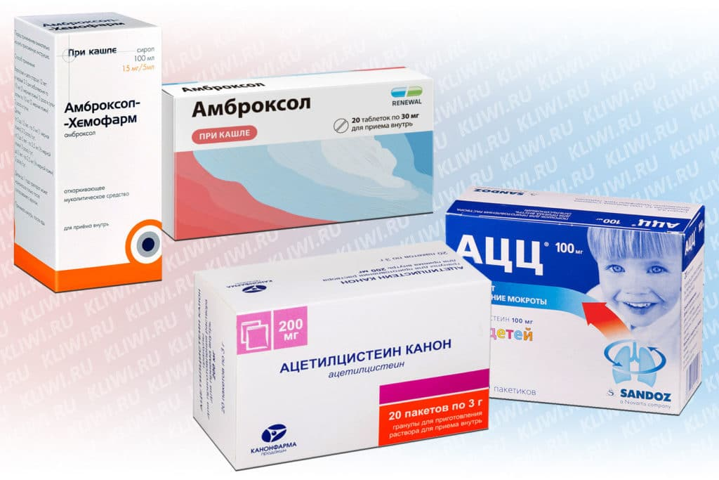 Амброксол и Ацетилцистеин