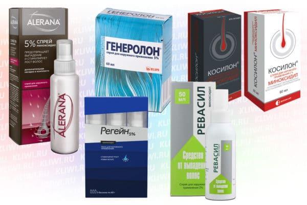 Препараты на основе миноксидила для роста волос